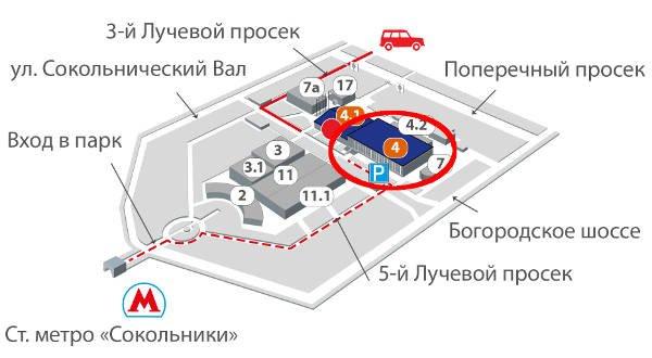схема парка Сокольники